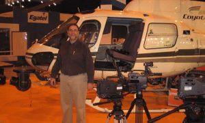 Se nos fue de las manos: Un helicóptero en nuestro stand