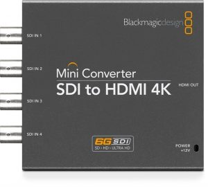 Conversor Blackmagic SDI Quad to HDMI 4k