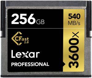 Tarjeta CFast 2.0 Lexar 256GB 3600x