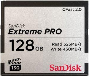 Tarjeta CFast 2.0 Sandisk 128GB Extreme Pro