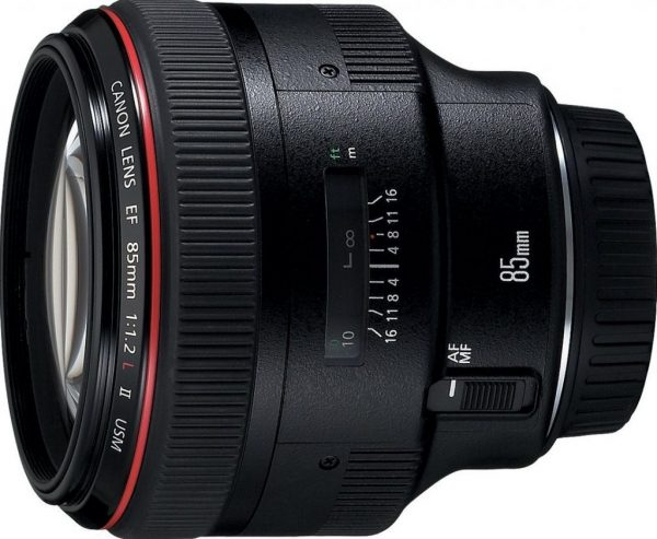 Canon EF 85 f1.2 L II USM lens