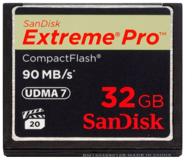 SANDISK Extreme Pro CompactFlash card 32 GB 90 MB/s