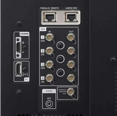 Sony 4K PVM-X1800 monitor back detail