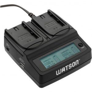 cargador doble de baterias