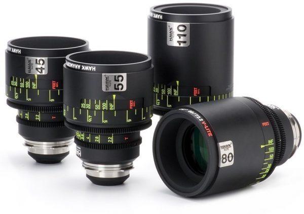 Hawk V-Lite T2.3 anamorphic lenses