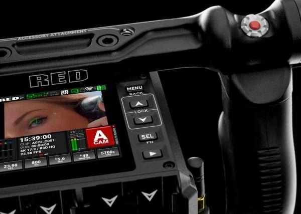 Red Komodo camera display